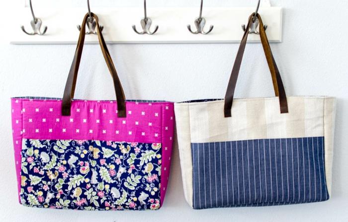 bolsas reutilizables para frutas y verduras DIy hechos con trozos de tela coloridos, ideas sobre como hacer manualidades