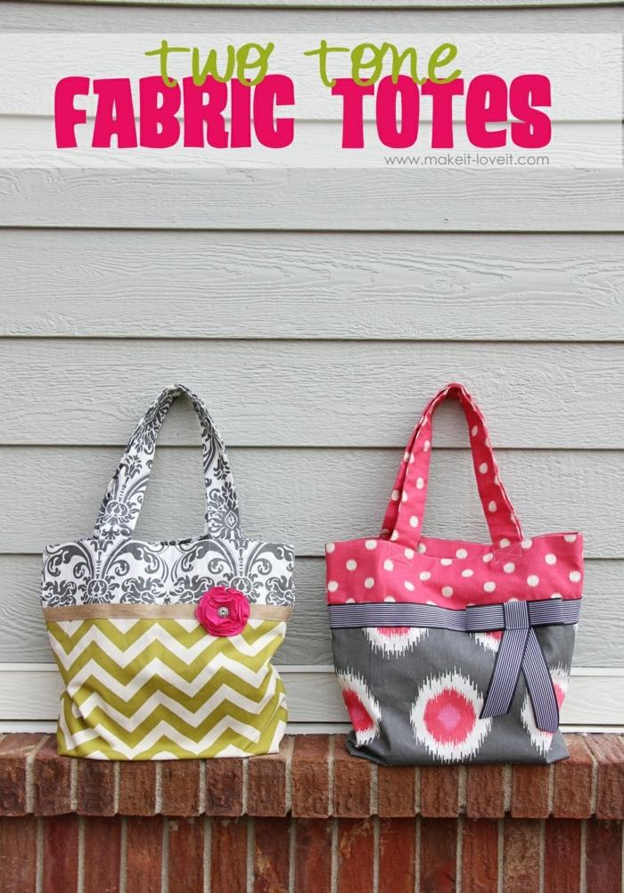 bolsas tote originales y faciles de hacer, bolsas reutilizables para frutas y verduras en colores, fotos de bolsas DIY