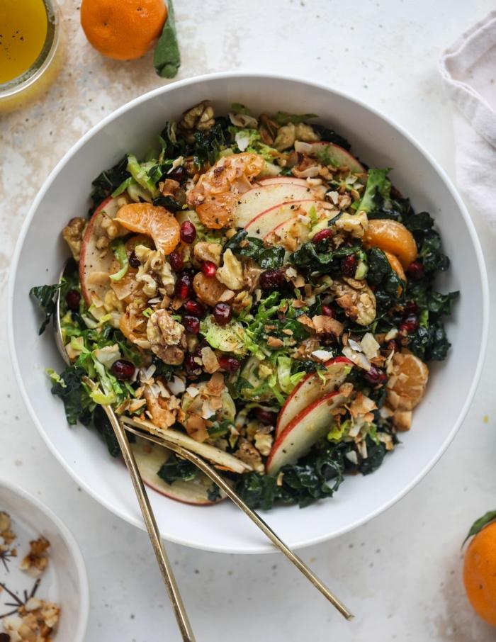 recetas sanas para cenar ricas y fáciles de hacer, ensalada con frutas y verduras, las mejores ideas de recetas con granada