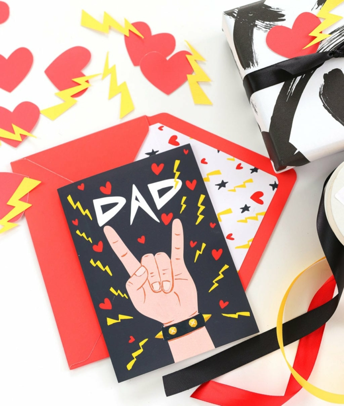 fascinantes ideas de tarjetas coloridas para regalar a tu padre, pequeños detalles para el dia del padre originales
