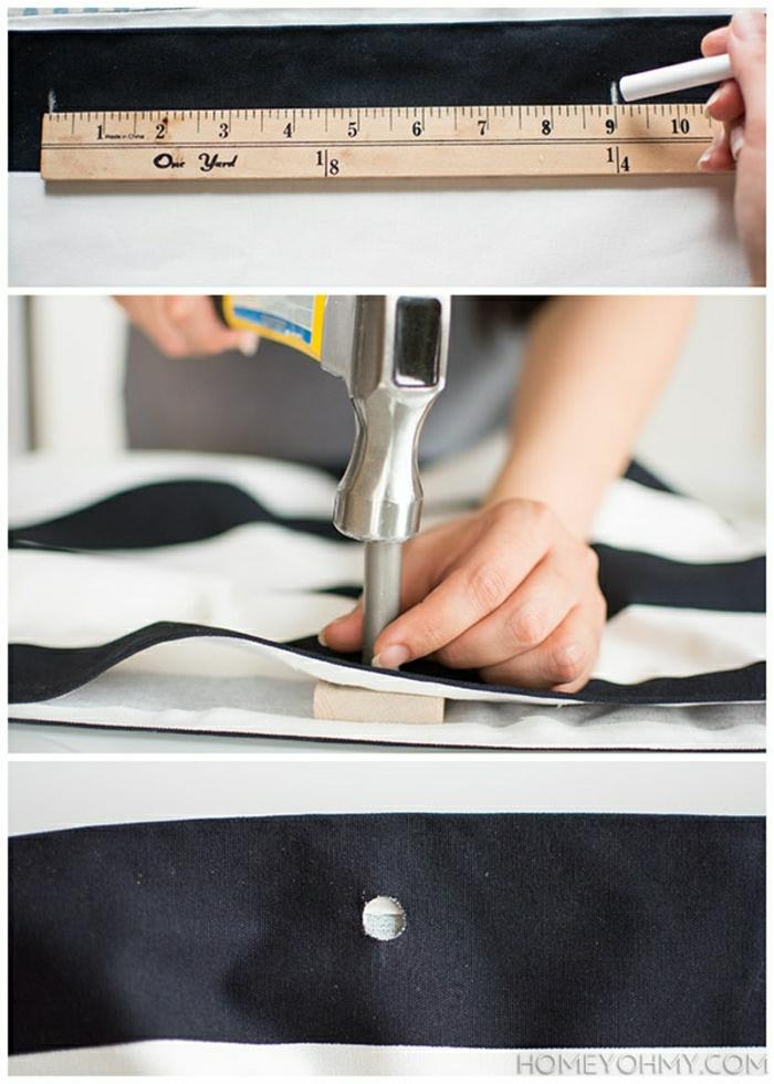 pasos para hacer un bolso DIy de tela, como hacer un bolso de trozos de tela que tienes en tu casa, tutoriales con imagenes