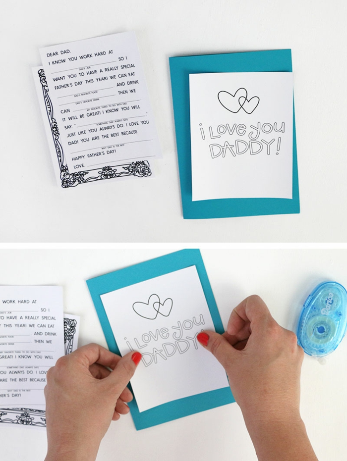 propuestas sobre como hacer una tarjeta DIY, regalos para el dia del padre manualidades, fotos de regalos fáciles de hacer