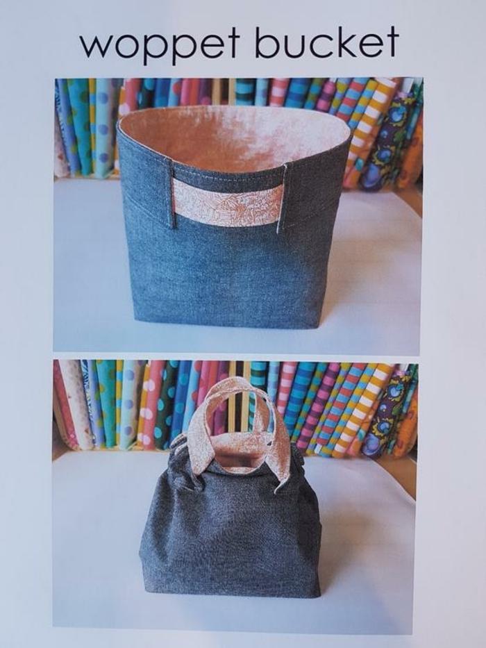 bonito bolso tipo saco de tela de denim, fotos de bolsos tote grandes y faciles de hacer, que regalar a tu mejor amiga
