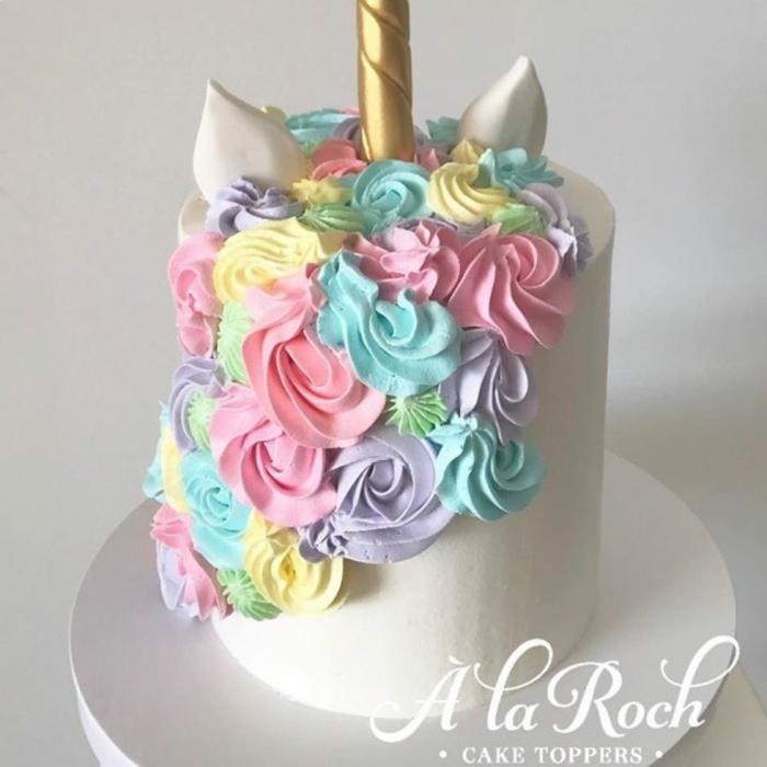 tarta unicornio fondant super deliciosa, las mejores imagenes de tartas caseras para preparar para un cumpleaños