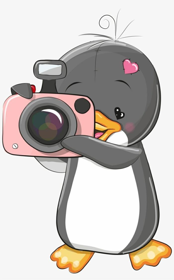 como dibujar animales kawaii super tiernos, fotos de dibujos animado originales, como dibujar un pinguino paso a paso
