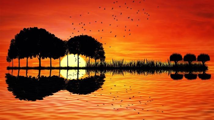 preciosos paisajes naturales al atardecer, imagenes relajantes y bonitos que puedes descargar y poner como fondo de tu pantalla