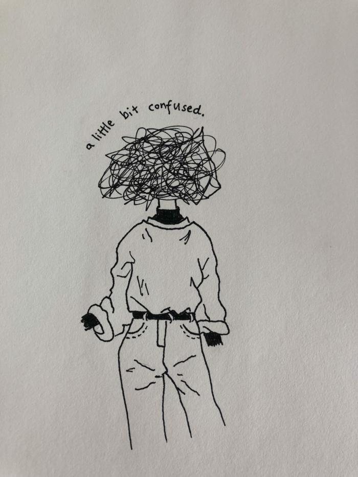 chicas tumblr, ideas de dibujos con una idea sentimental, fotos de dibujos en blanco y negro, pequeñas cosas para dibujar en casa