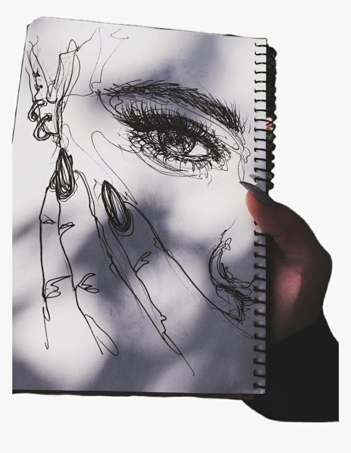 dibujos en blanco y negro de chicas swag, cosas para dibujar en tu cuaderno, ideas de actividades para hacer en cuarentena