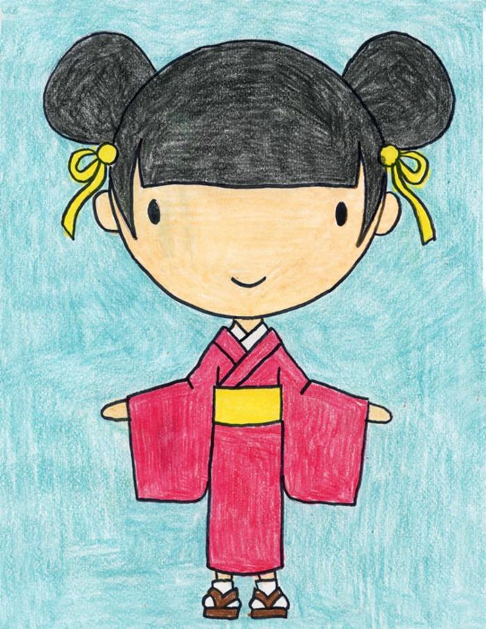 chicas kawaii divertidas y bonitas, dibujos adorables para hacer en casa con nuestros niños, ideas de dibujos chulos