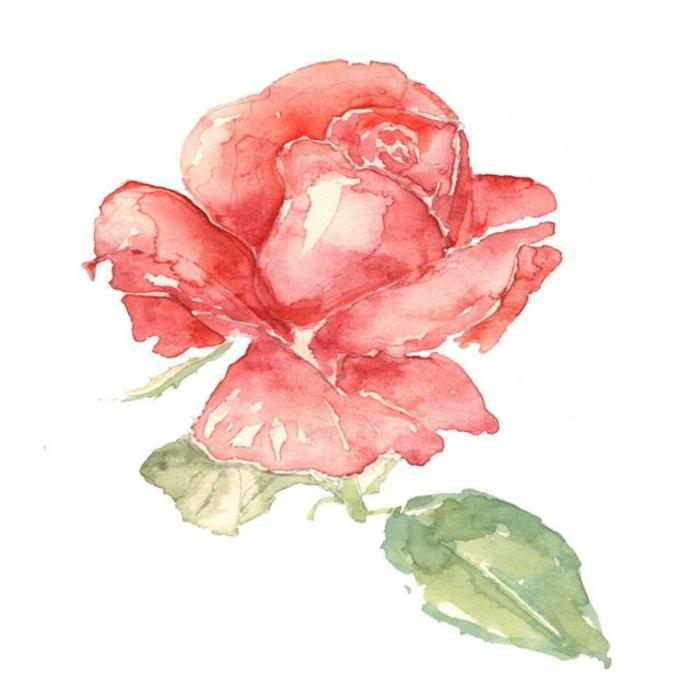 hermosa flor dibujada con acuarelas, imagenes de dibujos que inspiran, ideas de dibujos originales paso a paso para inspirarte