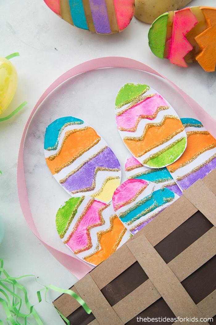 geniales ideas de manualidades faciles para niños para decorar la casa en primavera, manualdiades de pascua originales