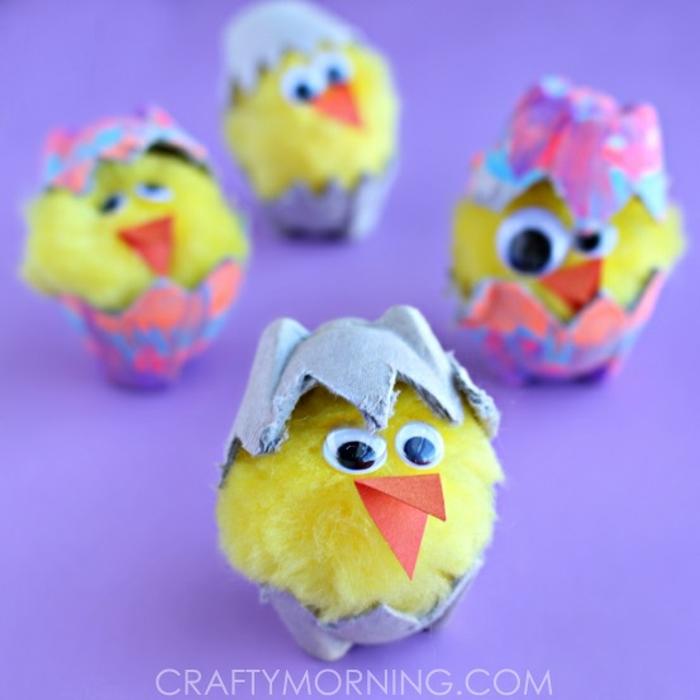 bonitas ideas de manualidades para hacer en casa en primevera, manualidades con cajas de huevo divertidas y faciles