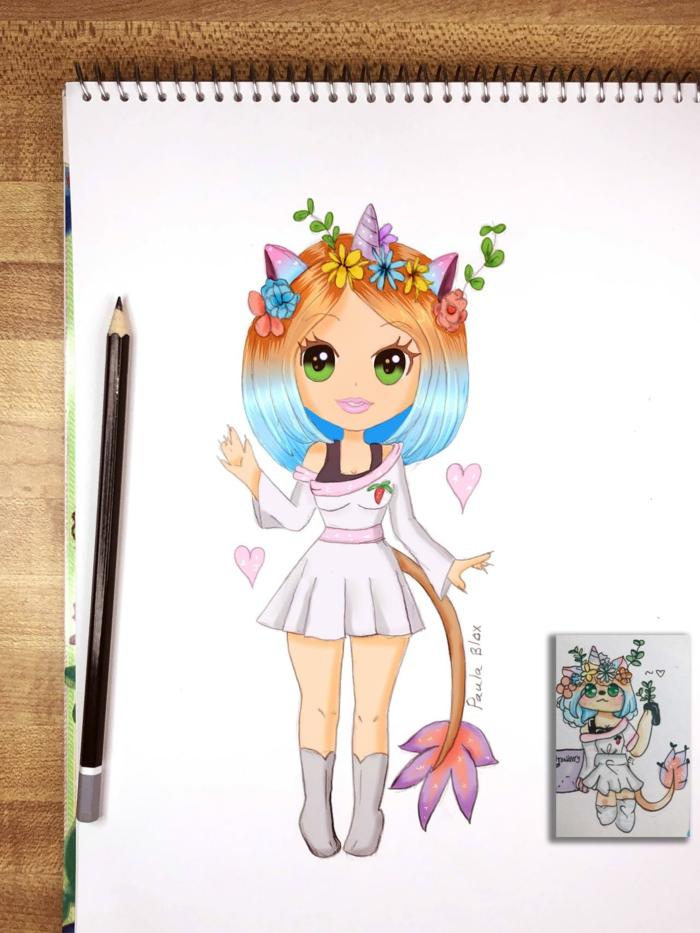 cosas para dibujar faciles y lindas, ideas de chicas kawaii en dibujos, ideas de cosas para dibujar faciles, fotos de dibujos