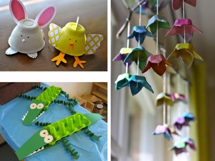 tres excelentes ideas de manualidades para niños con carton, manualidades de pascua, animalitos hechos de carton