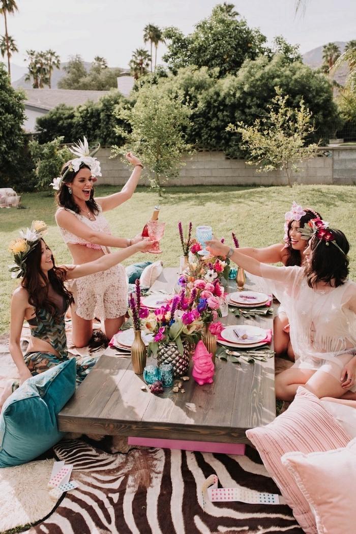 las mejores ideas decoracion despedida de soltera, fotos de celebracion fiesta de despedida de soltera aire libre