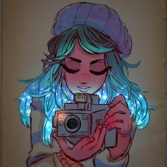 chicas tumblr dibujadas en colores acuarelas, ideas de dibujos en colores que enamoran, fotos de dibujos originales para redibujar