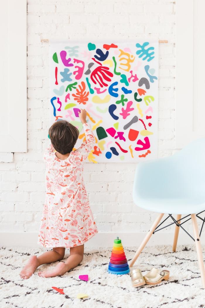 geniales dieas de manualidades para niños, ideas de manualidades con fieltro, manualidades para niños faciles y rapidas