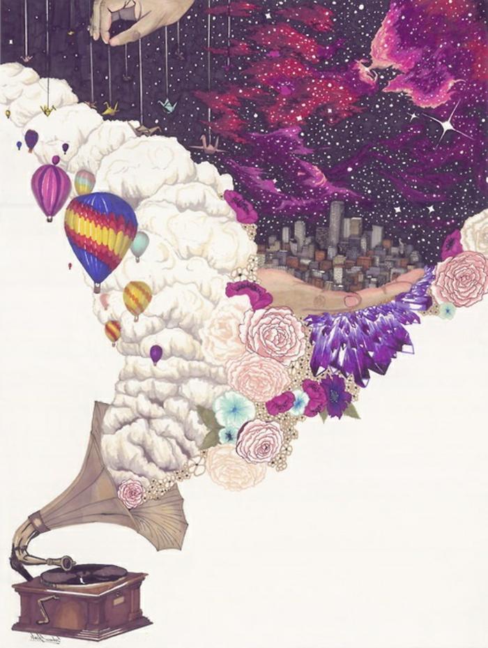 preciosos diseños de dibujos para descargar, dibujos tumblr en colores, ideas de dibujos magicos, alucinantes ideas de dibujos