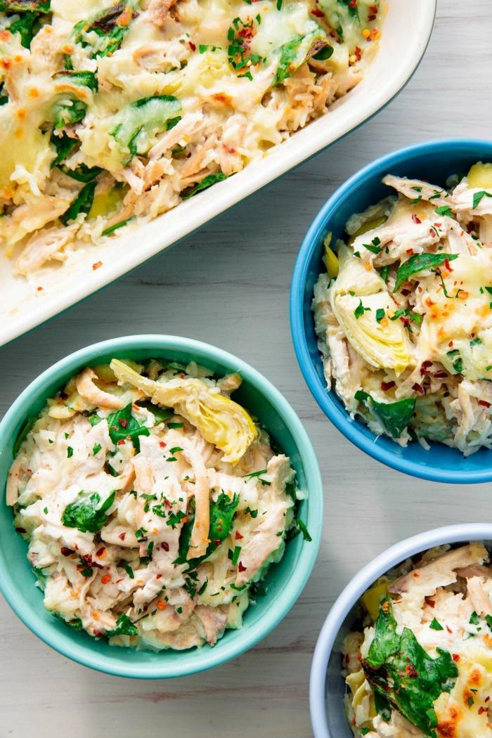 recetas con pollo y espinacs, como hacer espinacas, ideas de recetas saludables para conseguir una dieta sana y equilibrada