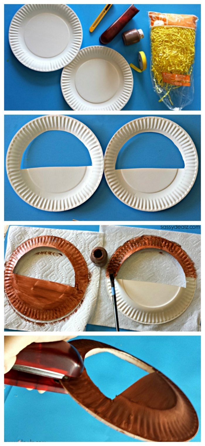 manualidades para niños faciles y rapidas, pasos para hacer manualidades de reciclaje, como hacer decoracion de plato de plastico