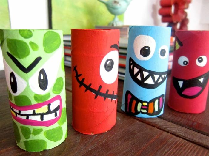 ideas de manualiades con tubos de cartón de rollos de papel higiénico, manualidades para niños faciles y rapidas