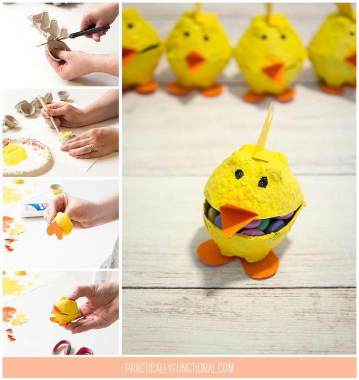 manualidades originales para decorar la casa, ieas de decoraciones de primavera, como hacer elementos decorativos de carton de huevo