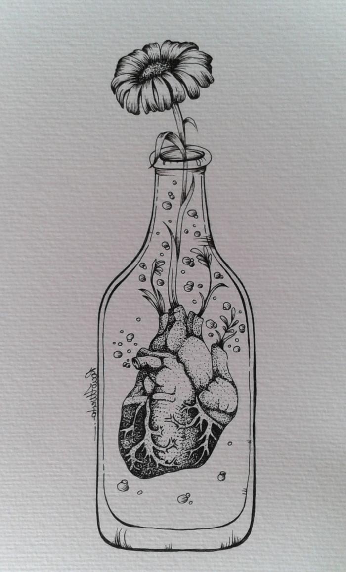 preciosos dibujos simbolicos que inspiran, dibujos faciles de hacer y originales, dibujos tumblr a lapiz para descargar