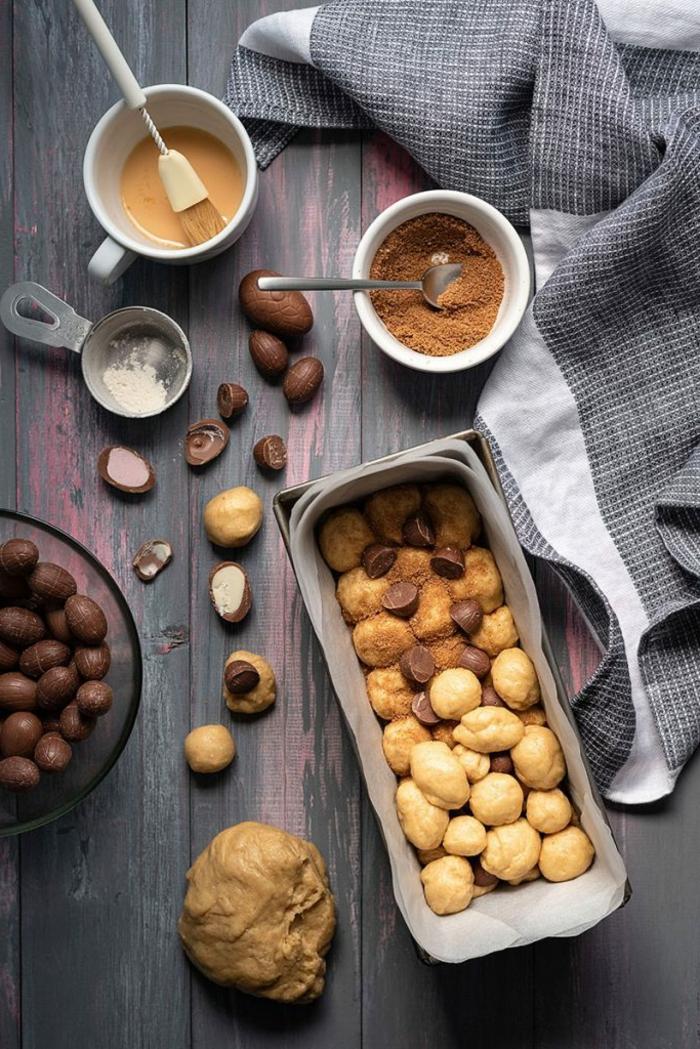 pasos para preparar un pan dulce con chocolate, las mejores ideas de recetas caseras en bonitas imagenes, mona de pascua con chocolate