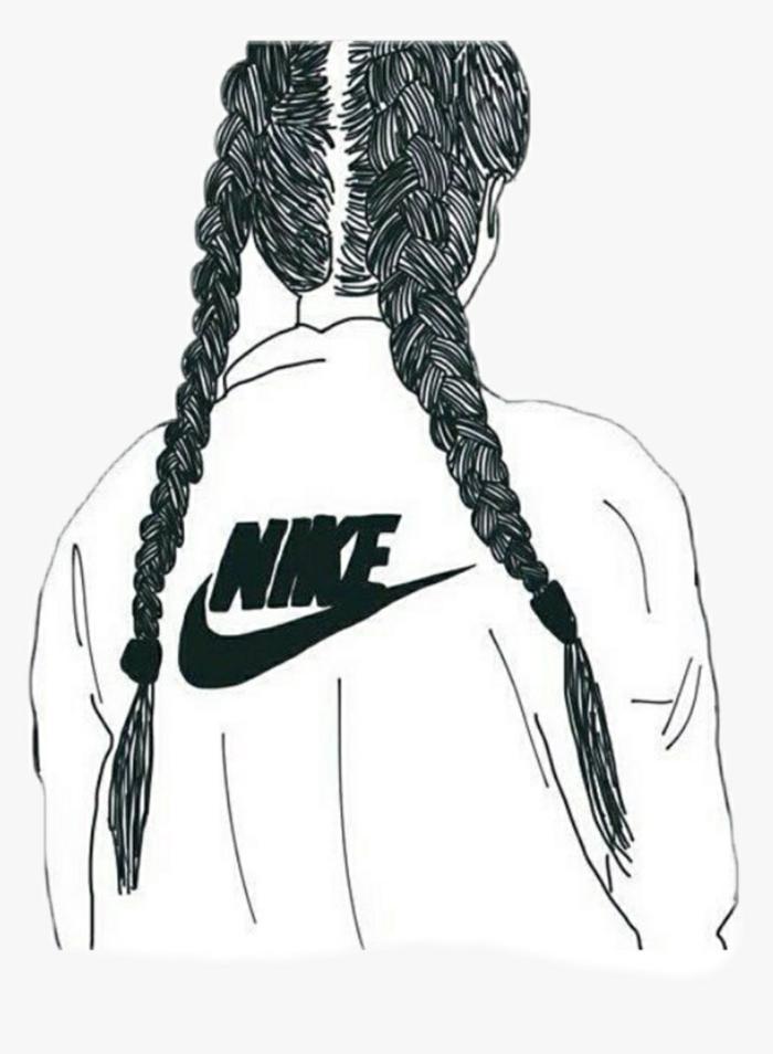 dibujos tumblr a lapiz, geniales ideas de dibujos de chicas swag, imagenes tumblr originales para calcar o dibujar en casa
