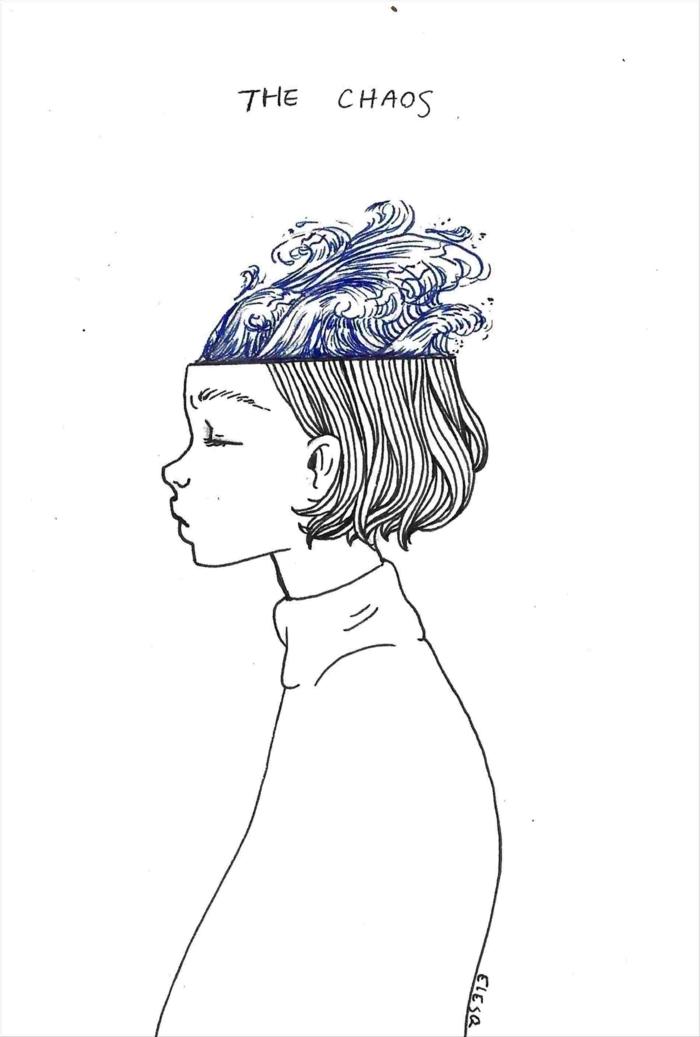 pequeños dibujos con un fuerte significado, ideas de dibujos originales y faciles de hacer en casa, dibujos de niñas