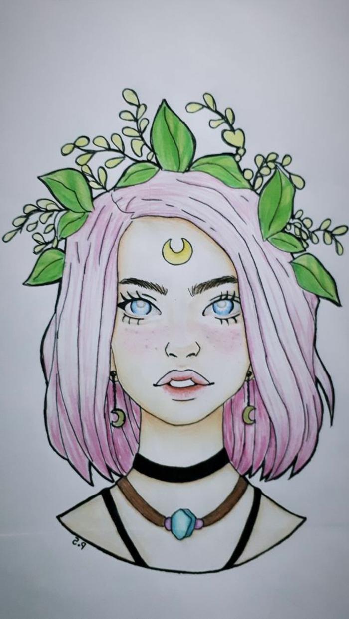 como dibujar chicas y mujeres en colores, dibujos tumblr a lapiz, fotos de dibujos simbolicos que inspiran, ideas de dibujos