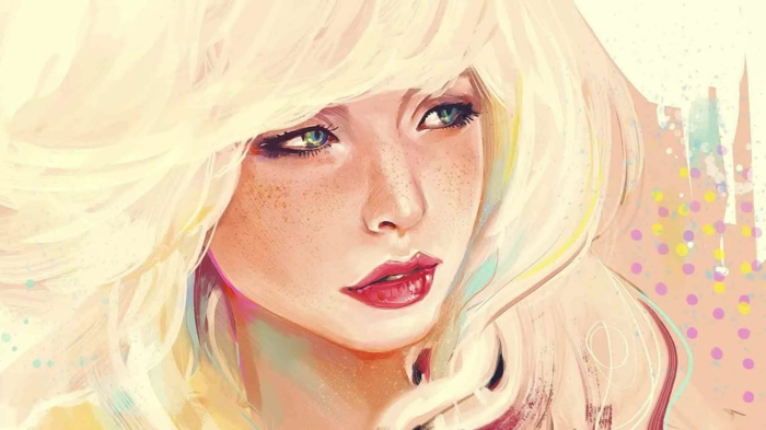 dibujos en colores en estilor realista, dibujos tumblr faciles, las mejores ideas de dibujos chulos de chicas swag y chicas tumblr