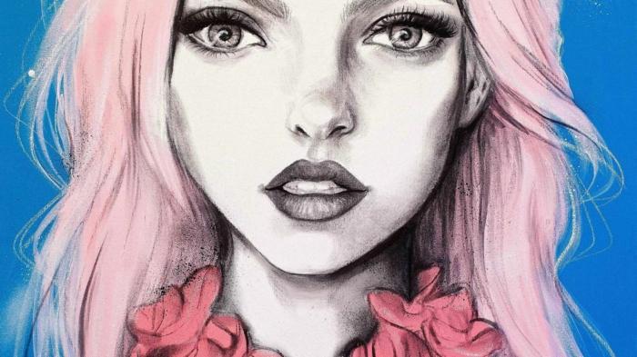 dibujos tumblr a lapiz, ideas de dibujos de chicas en estilo surrealista, originales propuestas de dibujos simbolicos hermosos
