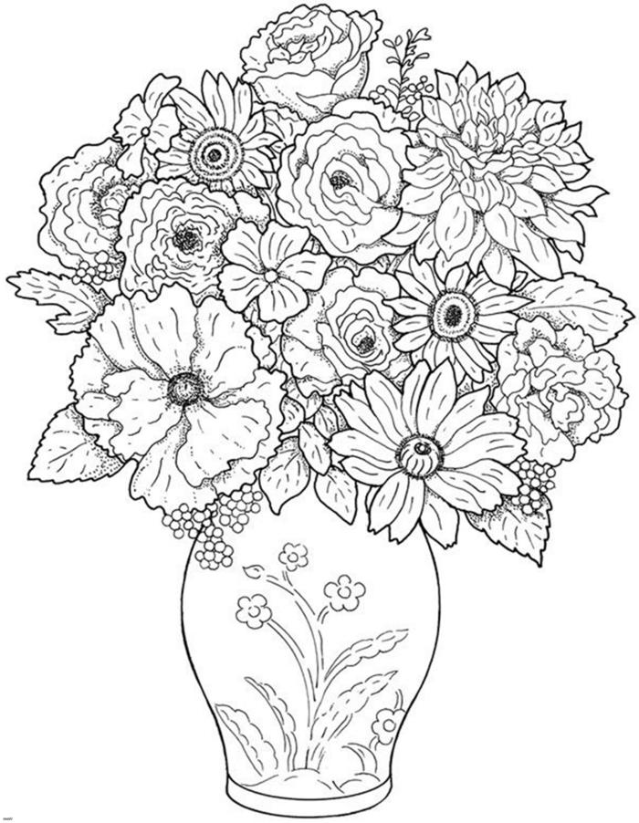 dibujos faciles de hacer, jarron con flores bonitos dibujado a lapiz, dibujos faciles de hacer, impresionantes ideas de dibujos faciles