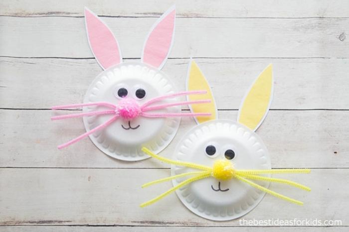 manualidades niños 4 años, como hacer decoracion casera con reciclaje, ideas de decoracion pascua con platos de plastico