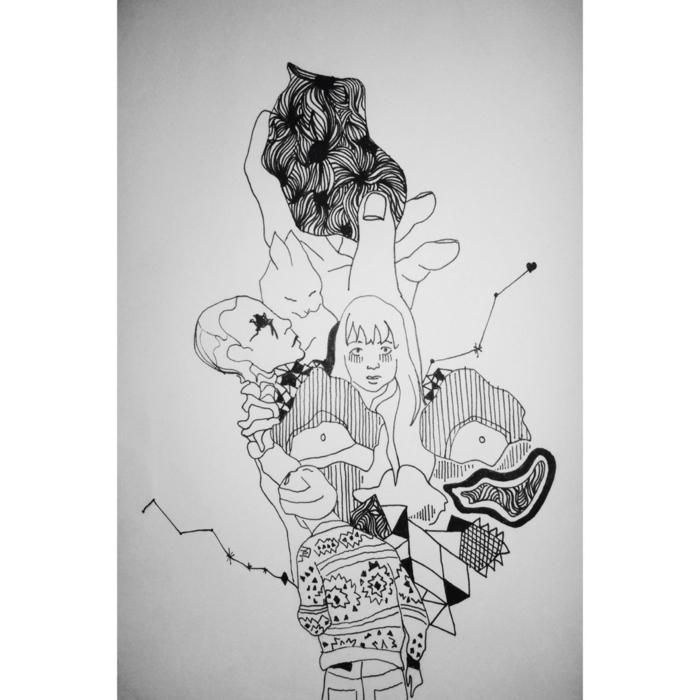 efnomenales ideas de dibujos abstractos para descargar, dibujos tumblr faciles, dibujos originales para principiantes y avanzados
