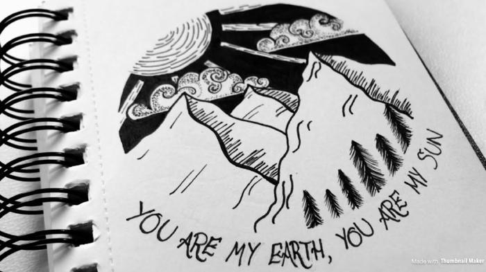 imagenes de naturaleza con frases bonitas, dibujos tumblr faciles, fotos simbolicos con detalles de naturaleza y montañas