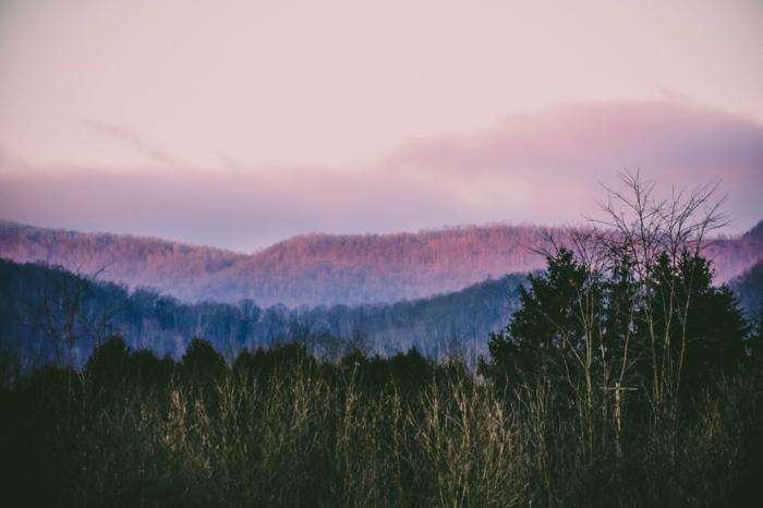 adorable imagen de montañas en la niebla, imagenes bonitas de naturaleza que te ayudarán a sentirte mejor durante la cuarentena