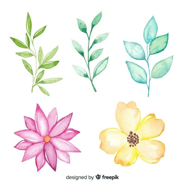 flores en colores pasteles, plantas y flores de primavera bonitos, diferentes ideas de flores faciles de dibujar en casa