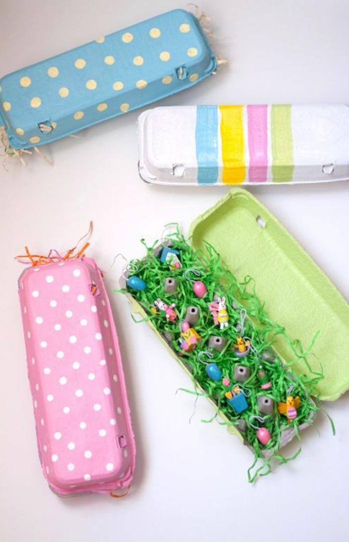 ideas de decoracion con huevos pintados para pascua, manualidades de pascua para niños en fotos, decoracion en bonitos colores