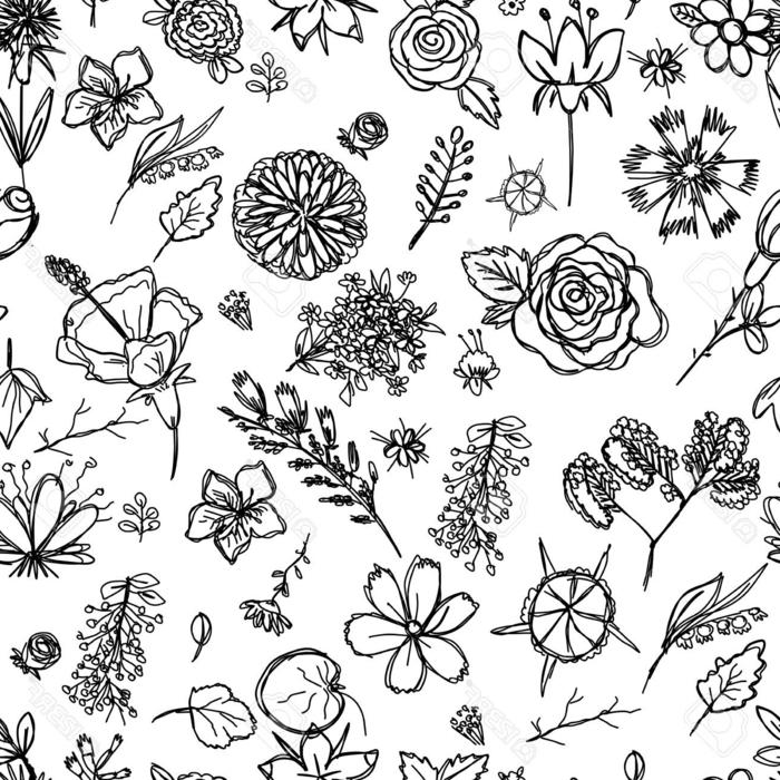 originales ejemplos de dibujos en blanco y negro, dibujos de pequeñas flores, ideas de diseños de tatuajes simbolicos