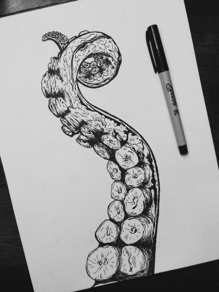 geniales ideas de dibujos en blanco y negro en estilo realista, dibujos a lapiz tumblr y dibujos con marcador negro para descargar