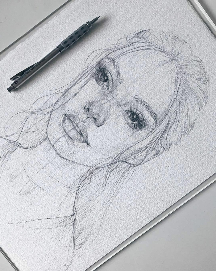 geniales ideas de dibujos tumblr de personas, dibujos de mujeres hermosos, dibujos tumblr a lapiz super originales