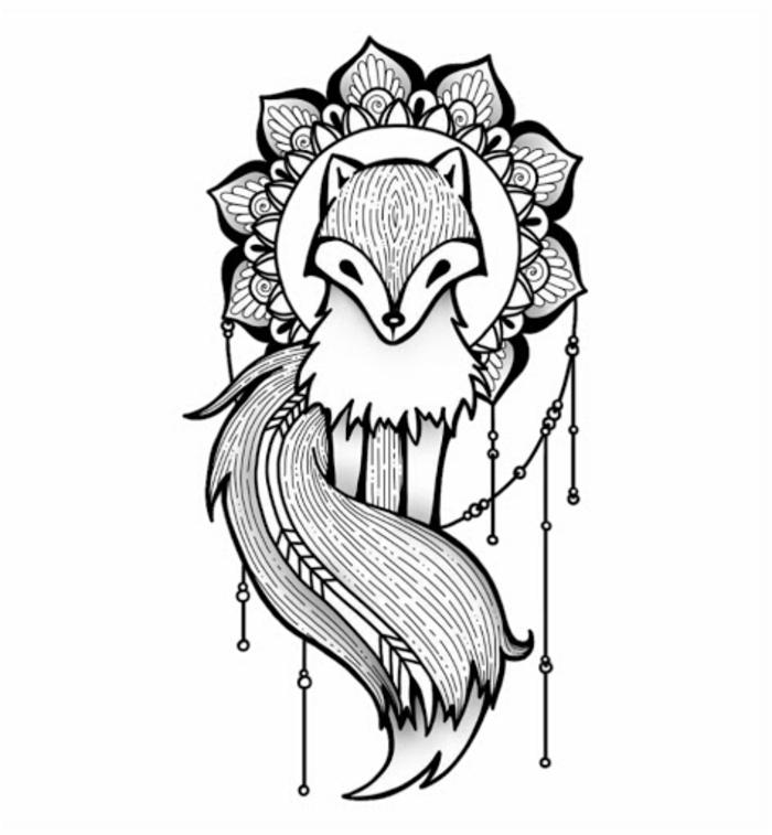 adorables dibujos con un significado simbolico, dibujos de animales y ornamentos, dibujos tumblr blanco y negro