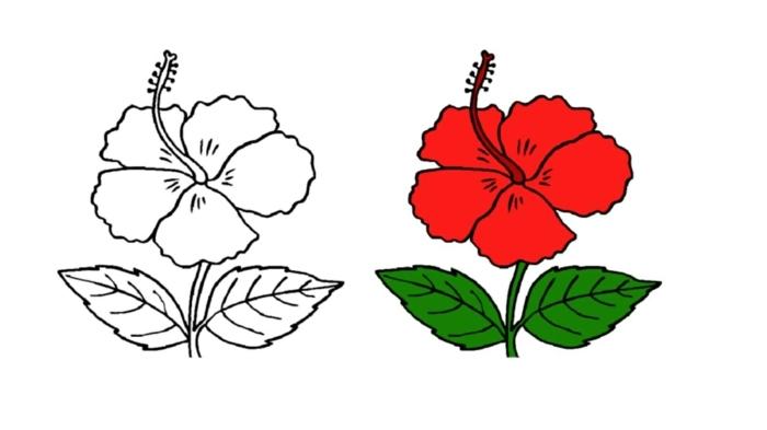 dibujos para pintar con flores, originales ideas de dibujos para calcar paso a paso, ideas de dibujos originales y fáciles de hacer