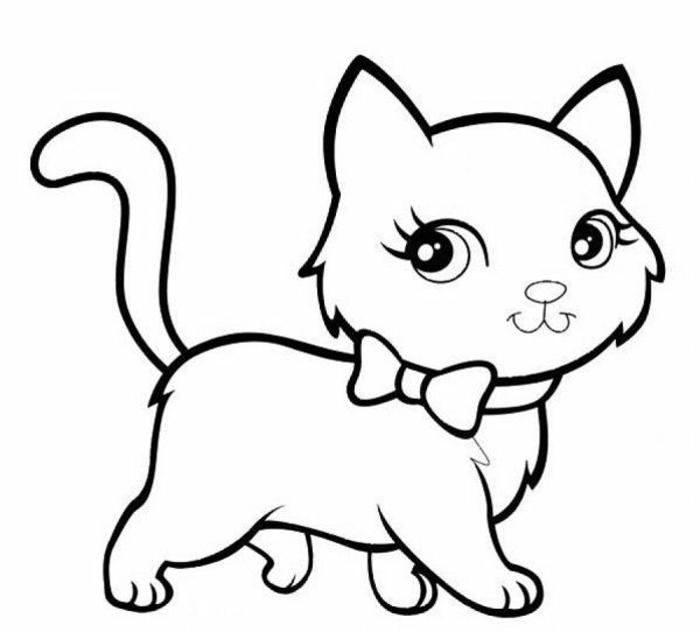pequeño gato dibujado con ojos kawaii, las mejores ideas de dibujos chulos para dibujar en 5 minutos, fotos de dibujos