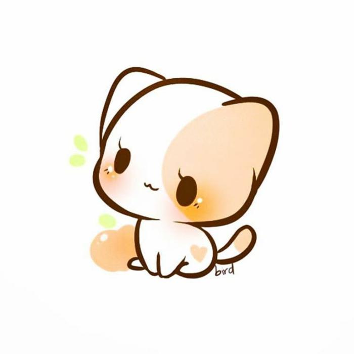 como dibujar un gato con ojos kawaii, las mejores ideas de dibujos para redibujar en casa, ideas de dibujos de animales
