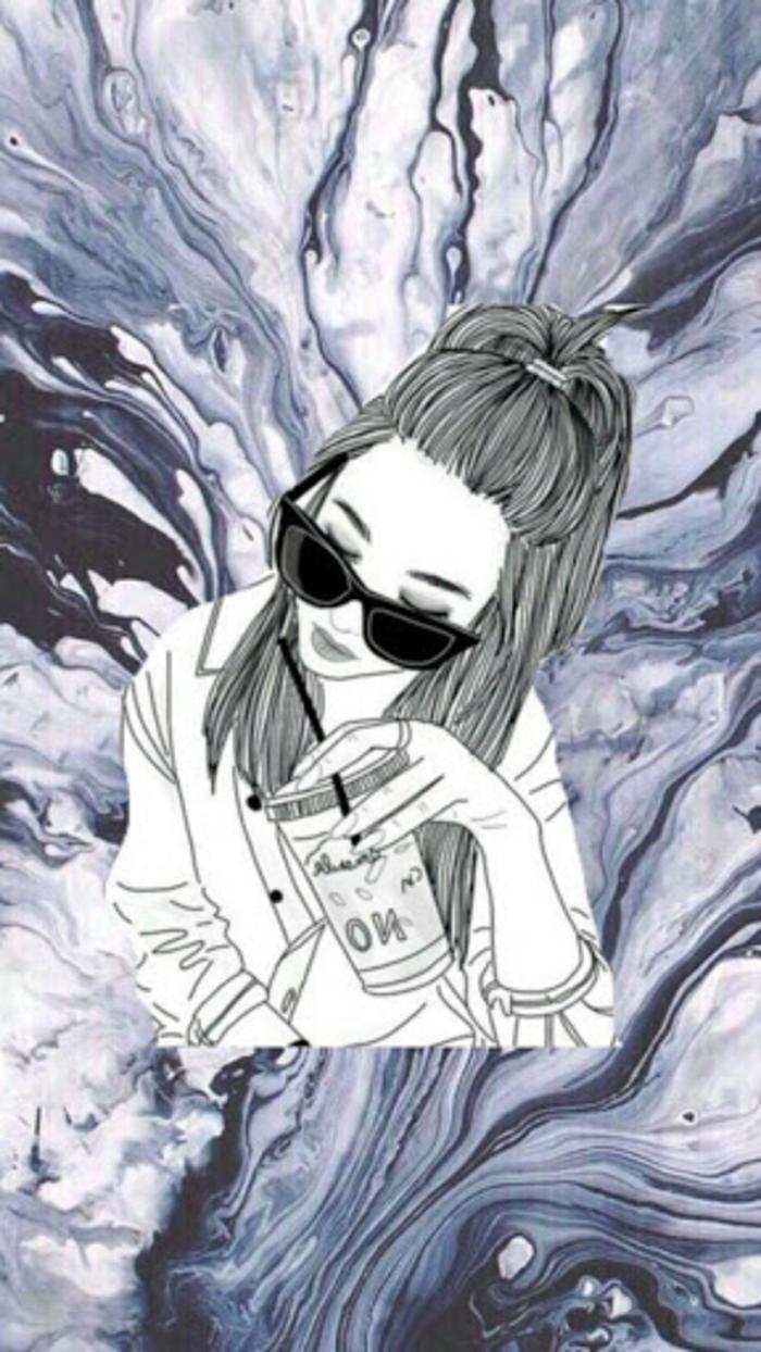 dibujo chica swag, alucinantes ideas de dibujos y más de 80 imagenes tumblr para inspirarte, fondos de pantalla chulos