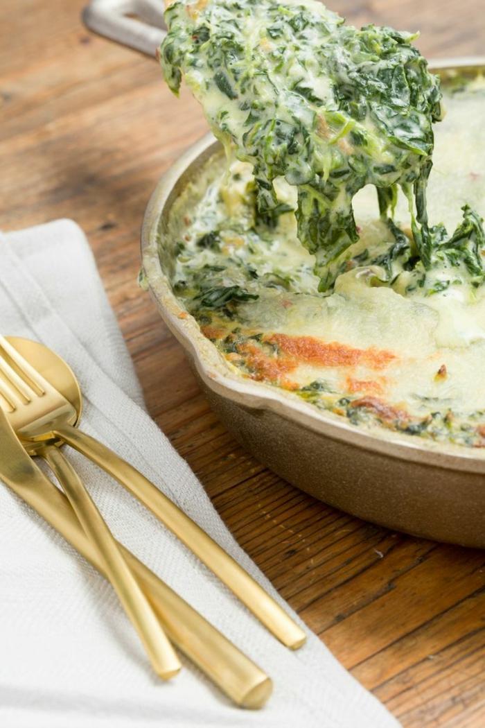 cacerola con espinacas, recetas faciles y economicas para todos los dias, recetas con productos estacionales para hacer en casa
