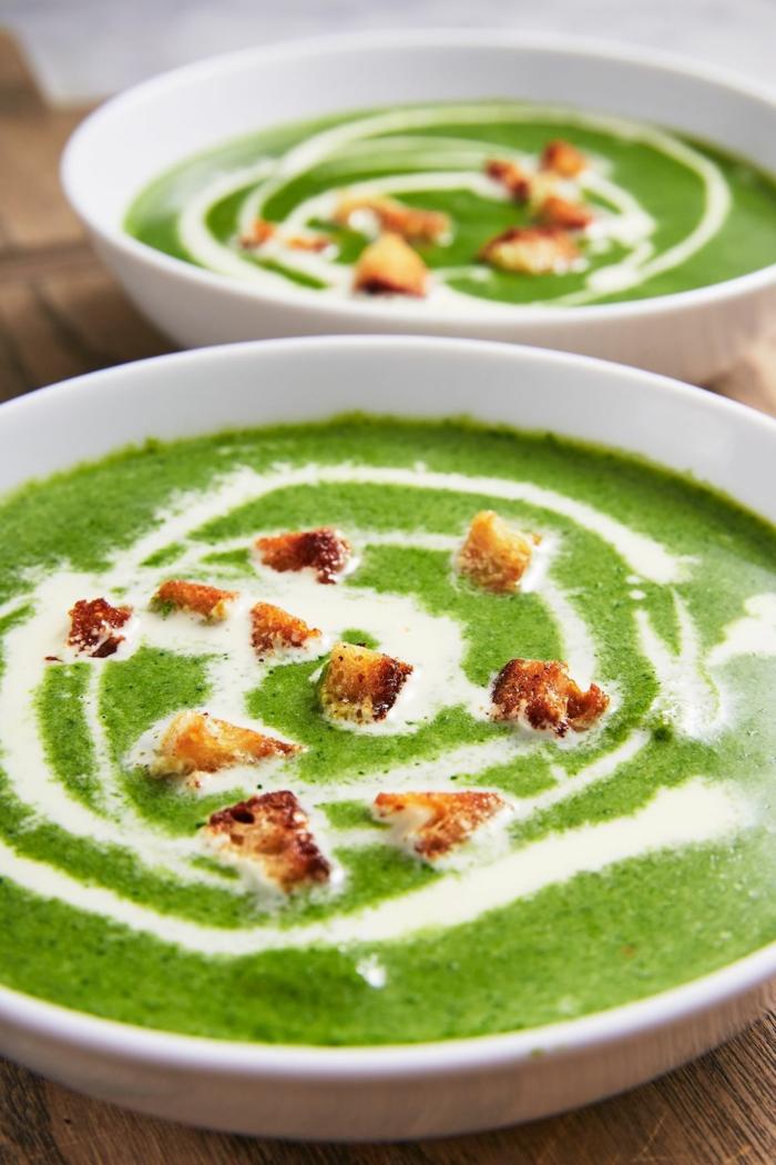 como hacer crema de espinacas, ideas sobre como hacer sopas cremosas de productos estacionales, recetas de primavera
